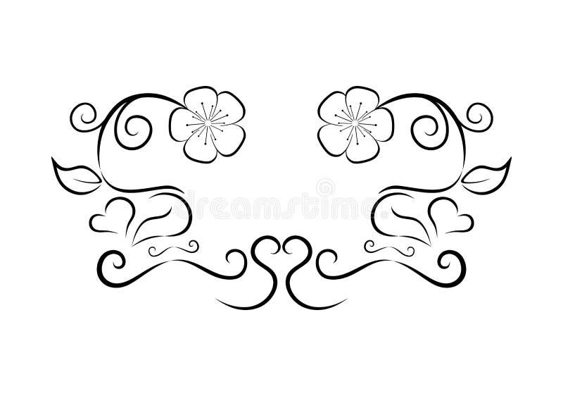 Flor floral simple por Pitripiter stock de ilustración