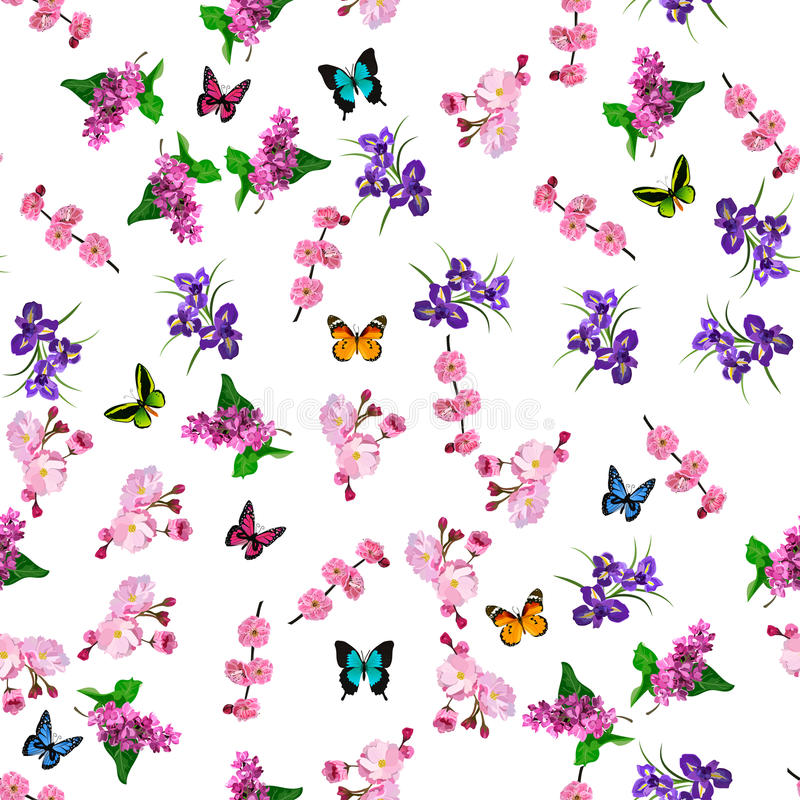 Flor floreciente de la lila stock de ilustración