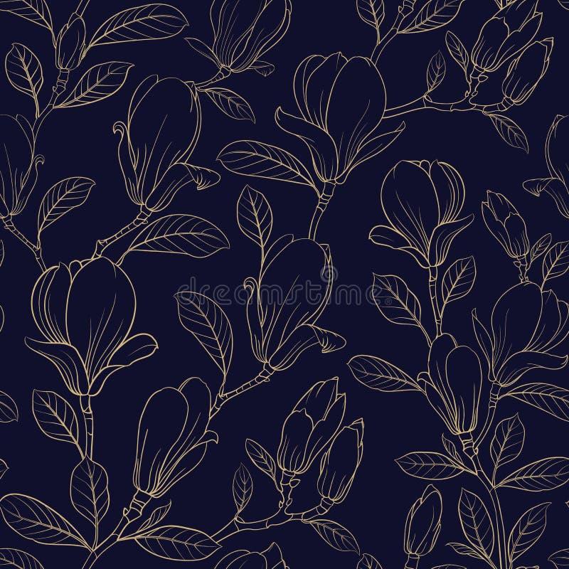 Flor floreciente de la magnolia libre illustration