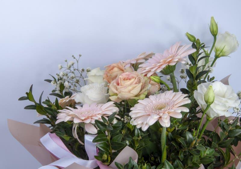 flor fresca hermosa con la foto brillante de las hojas verdes fotos de archivo libres de regalías