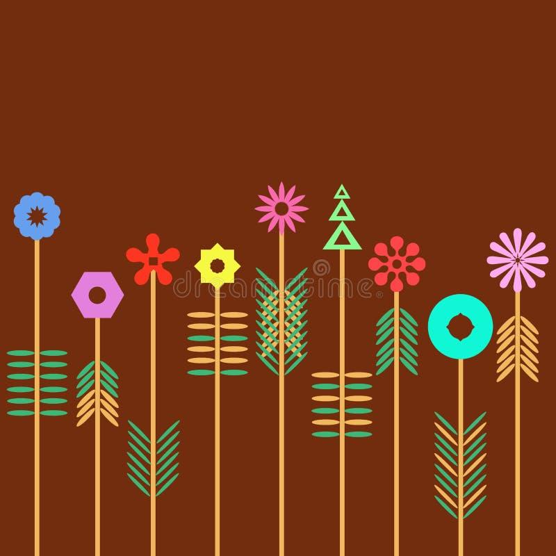 Flor geométrica ilustração do vetor
