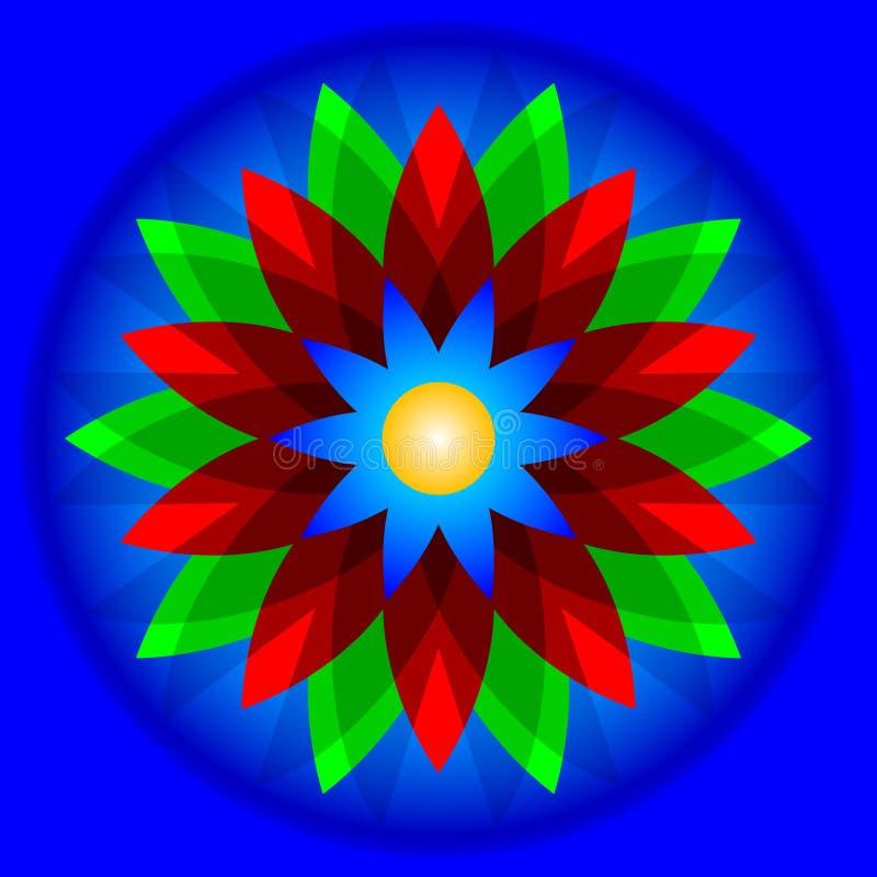 Flor geométrica ilustração royalty free
