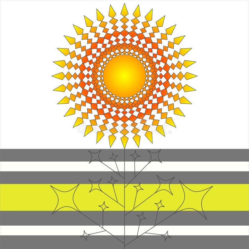Flor geométrica del gradiente stock de ilustración