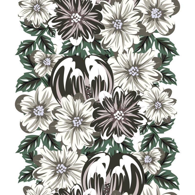 Flor inconsútil del vector ilustración del vector