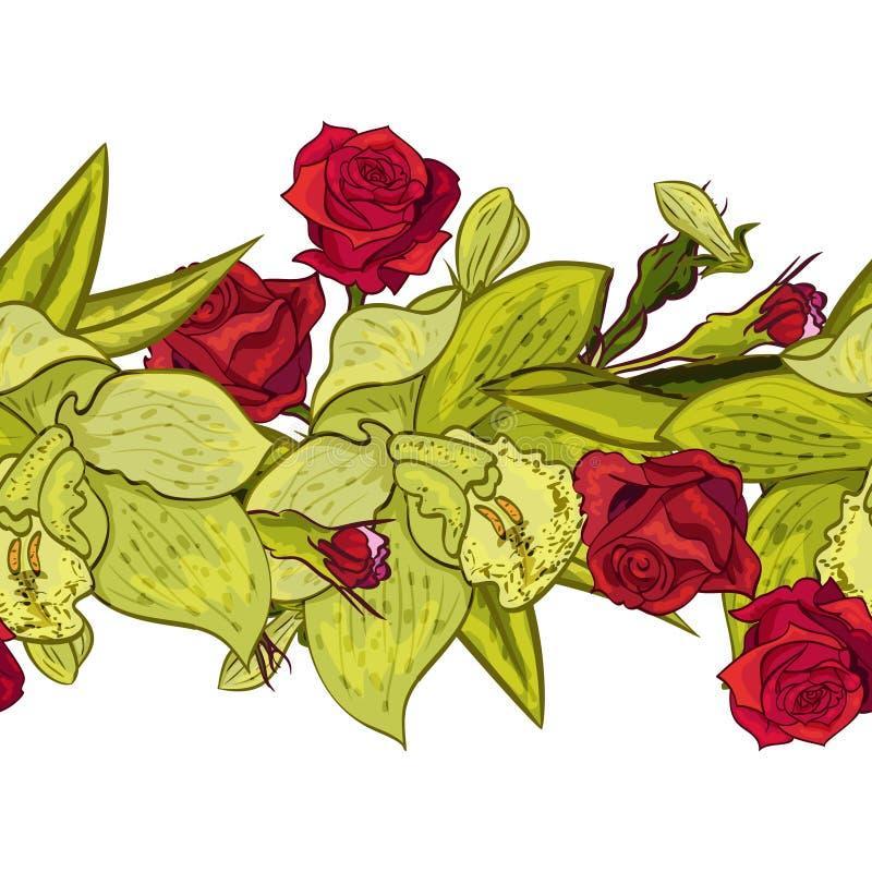 Flor inconsútil del vector stock de ilustración