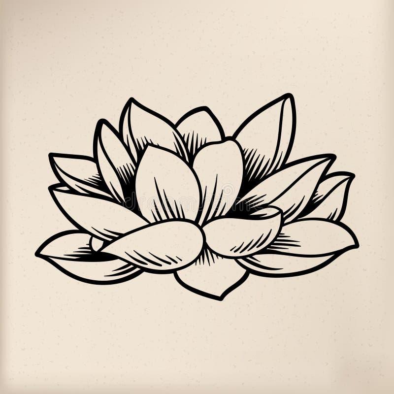 Flor japonesa da ilustração do estilo da tradição ilustração royalty free