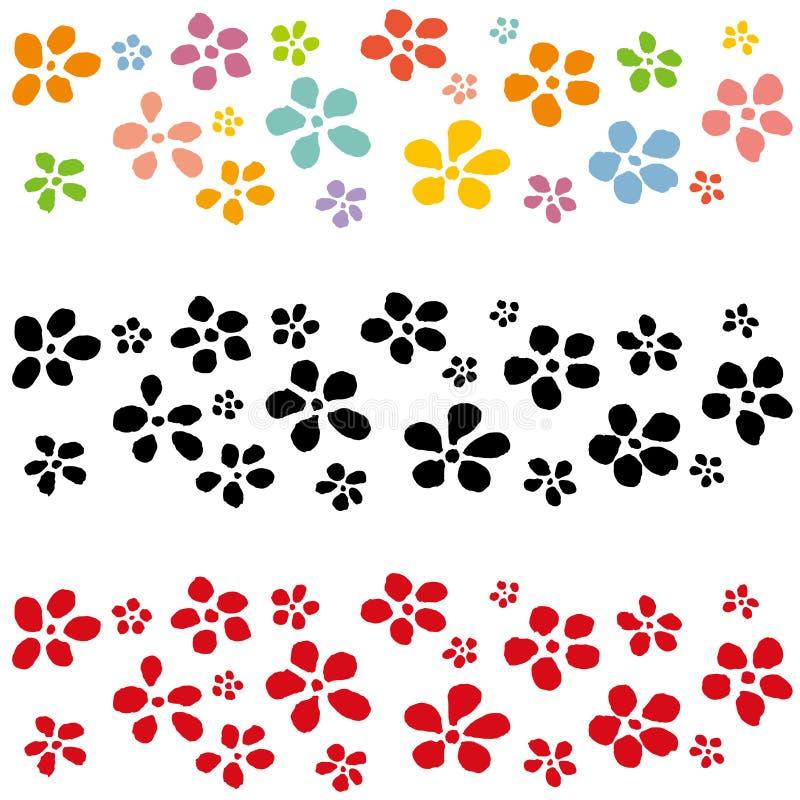 Flor japonesa Ilustración drenada mano stock de ilustración