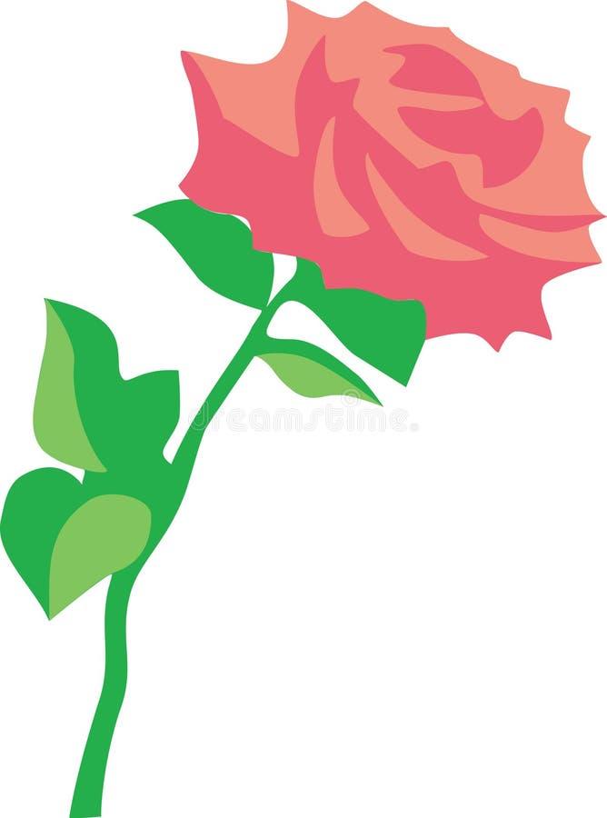 A flor levantou-se 01 ilustração royalty free