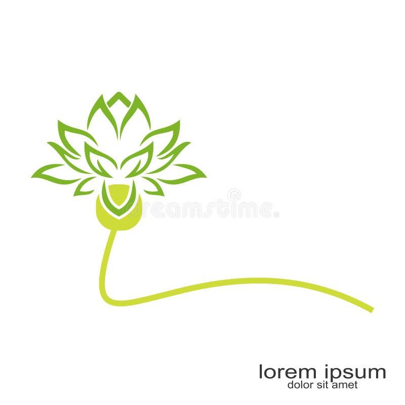 Flor Logo Design ilustração do vetor