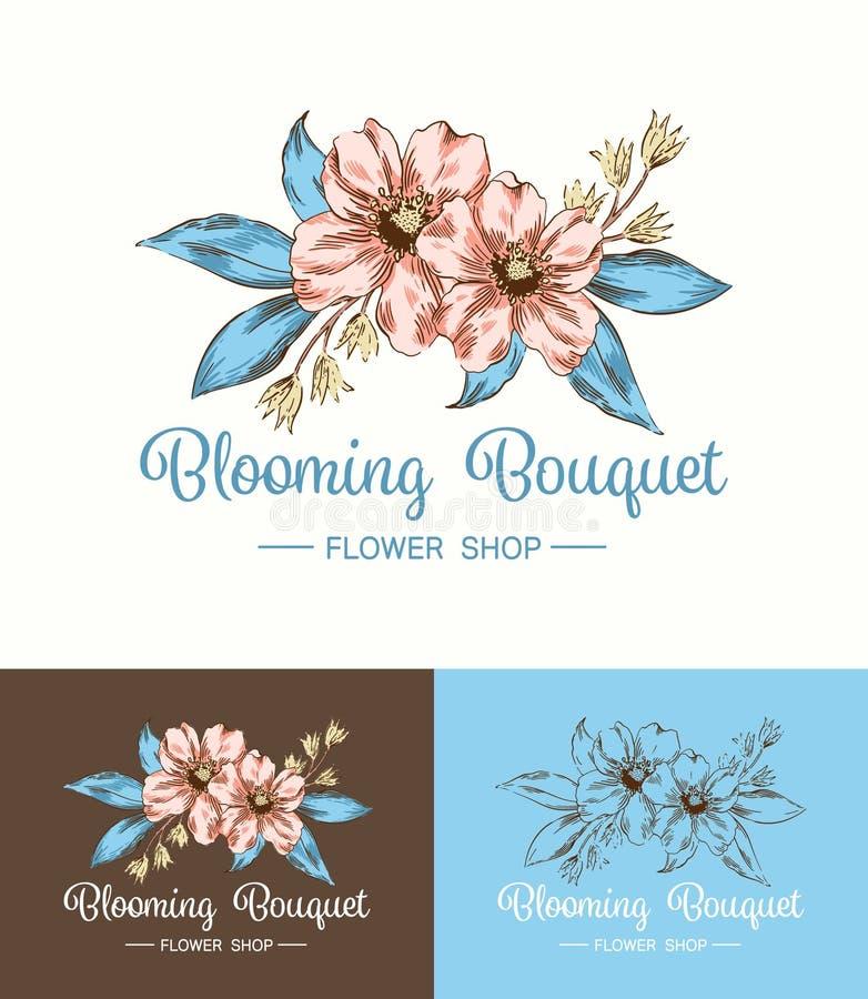 Flor Logo Shop ilustração do vetor