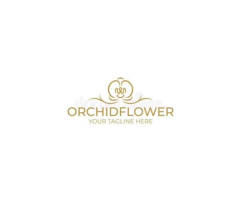 Flor Logo Template da orquídea Projeto do vetor do Phalaenopsis ilustração royalty free