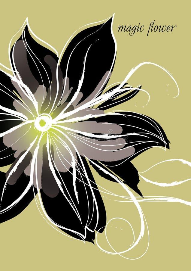 Flor mágica ilustração royalty free