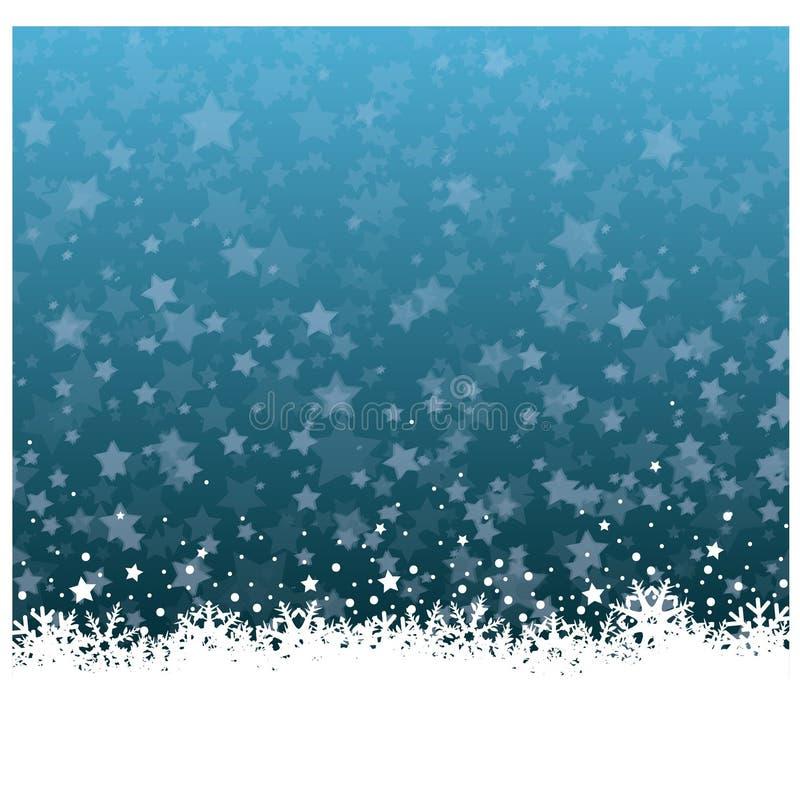 Flor maravilhosa do gelo do Natal com fundo das estrelas ilustração stock
