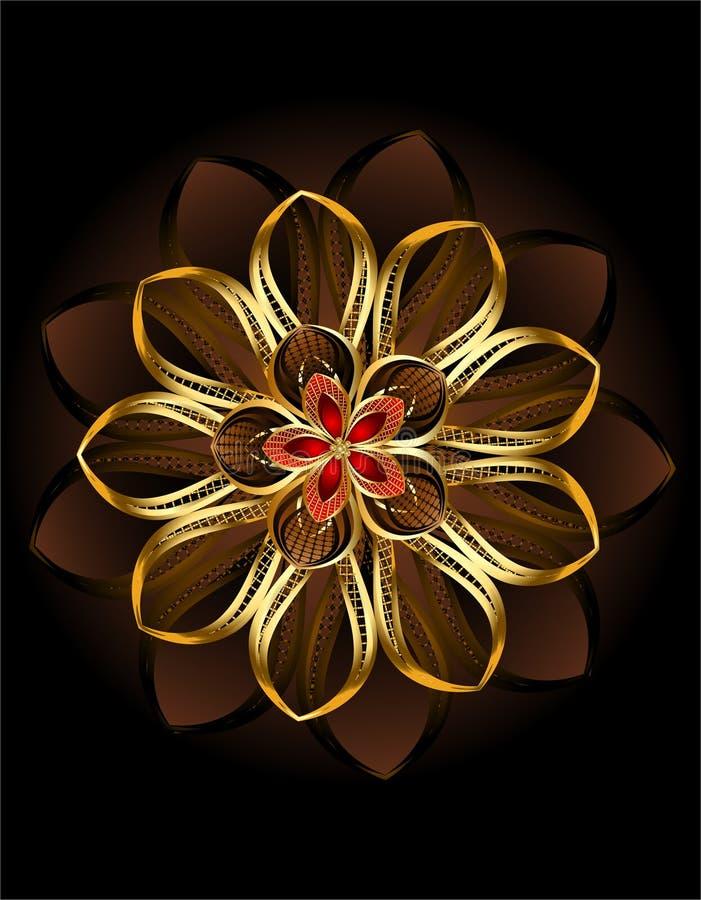 Flor marrom abstrata ilustração stock