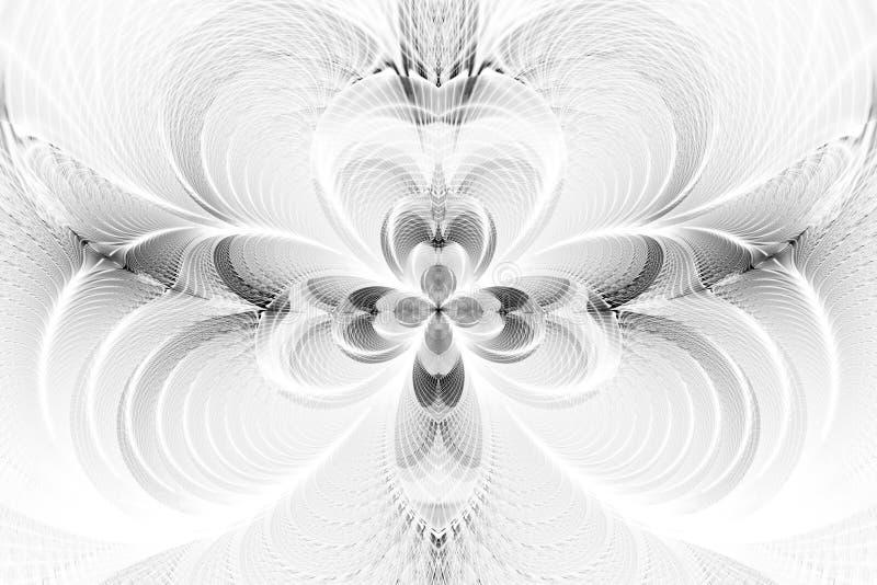 Flor monocromática abstrata no fundo branco foto de stock royalty free