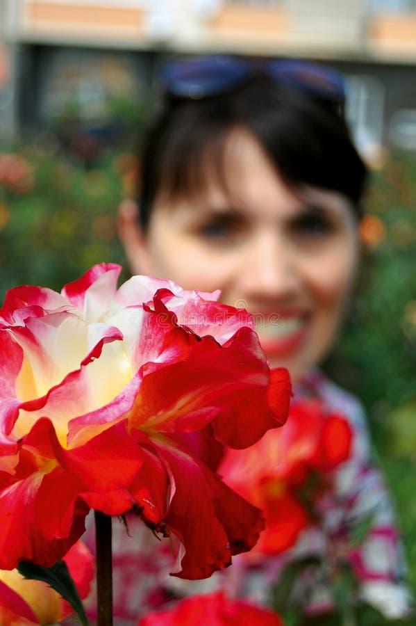 Flor & mulher imagens de stock