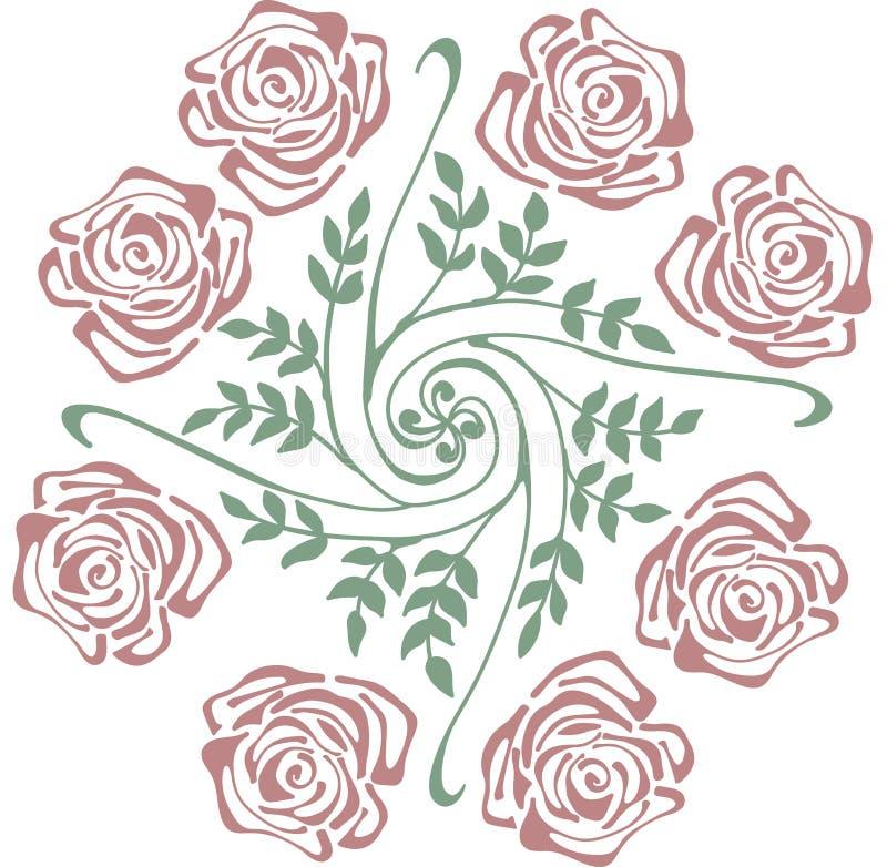 Flor na tela para imprimir ilustração stock