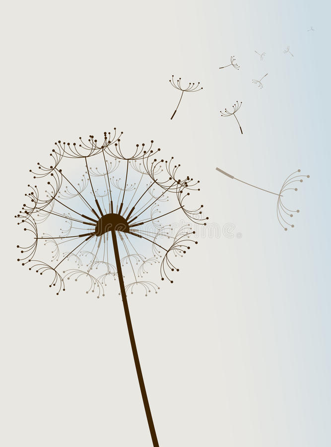 Flor no vento. ilustração do vetor