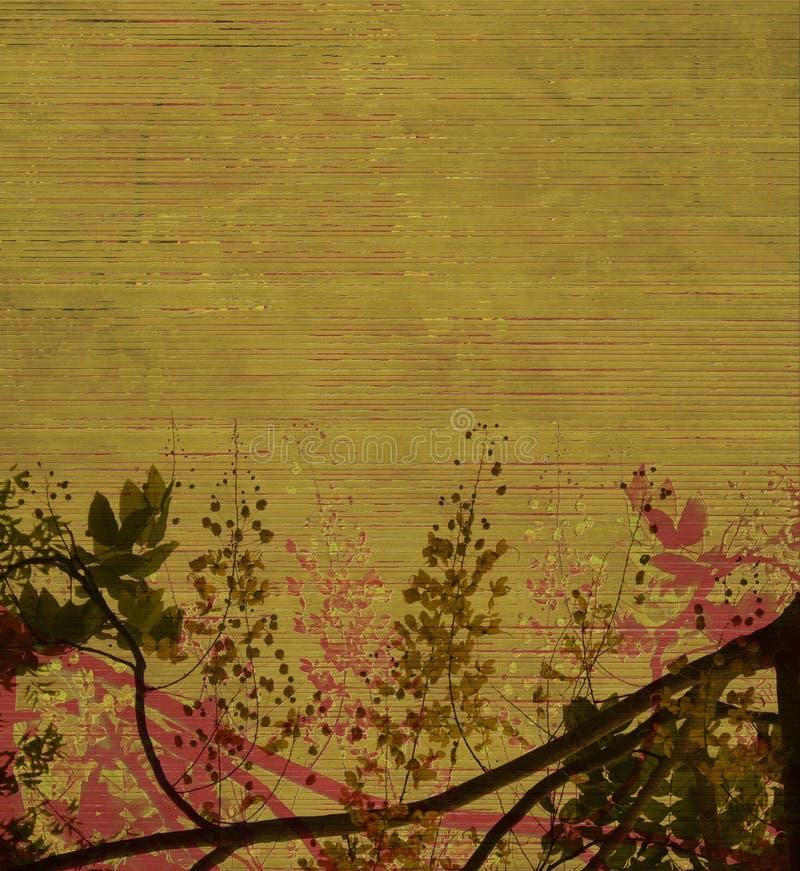 Flor no verde earthy ilustração do vetor
