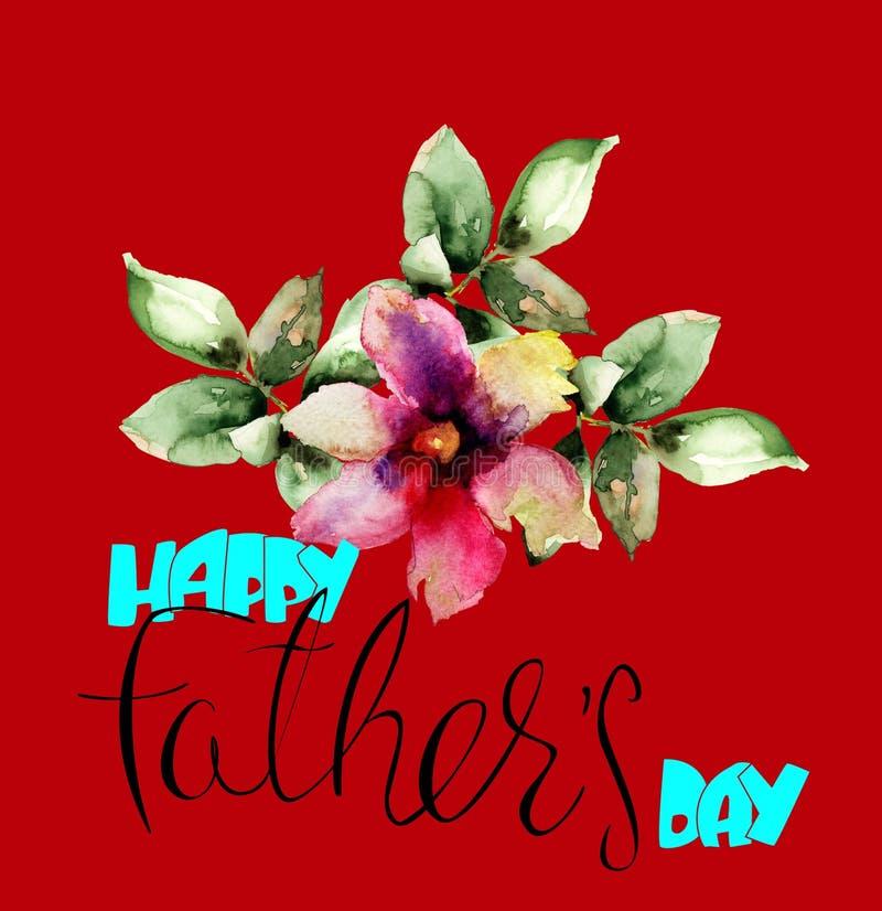 Flor original de Gerber con día de padres feliz libre illustration