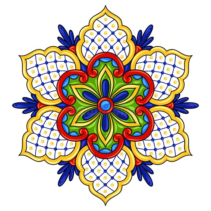 Flor ornamental mexicana stock de ilustración