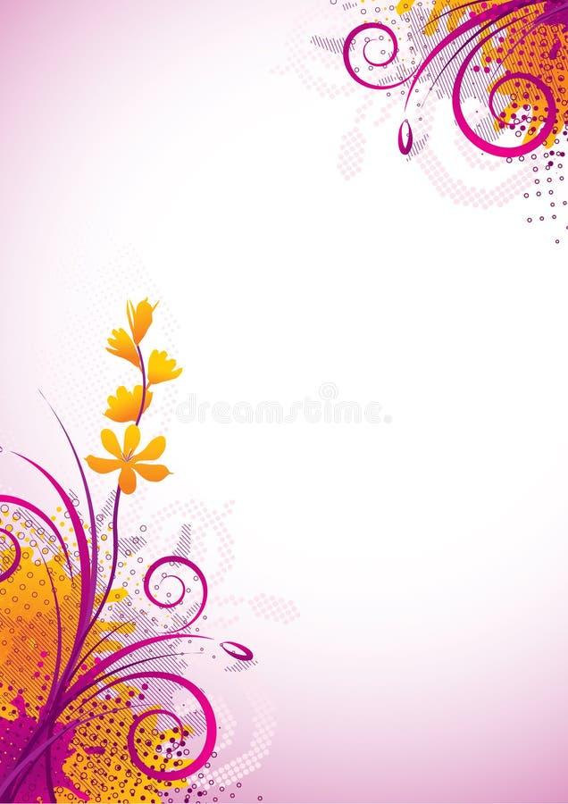 Flor púrpura ilustración del vector