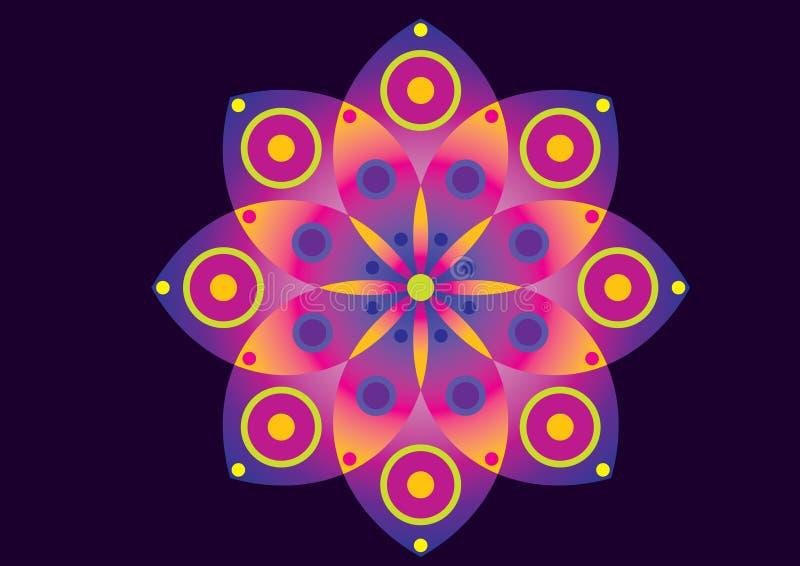 Flor púrpura y rosada fotografía de archivo libre de regalías