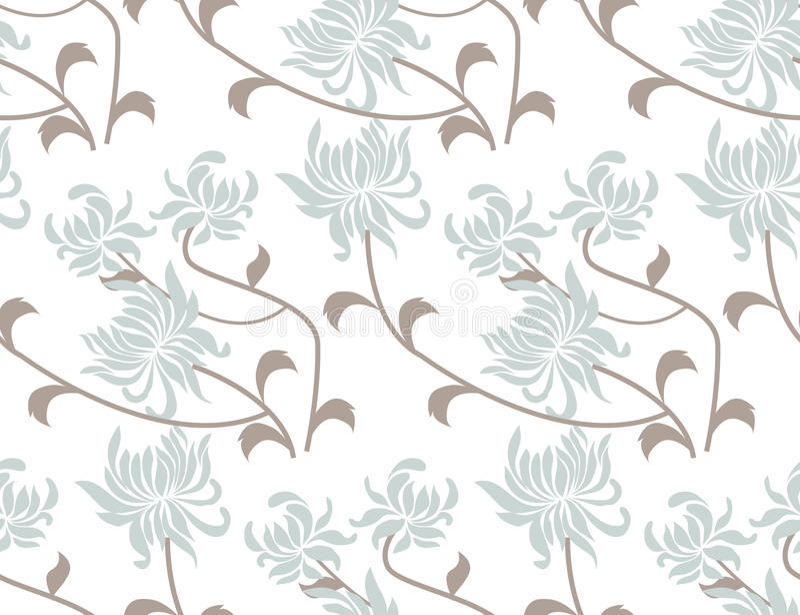 flor para o teste padrão sem emenda da mola ilustração stock