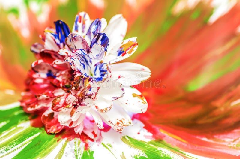Flor pintada imagens de stock royalty free