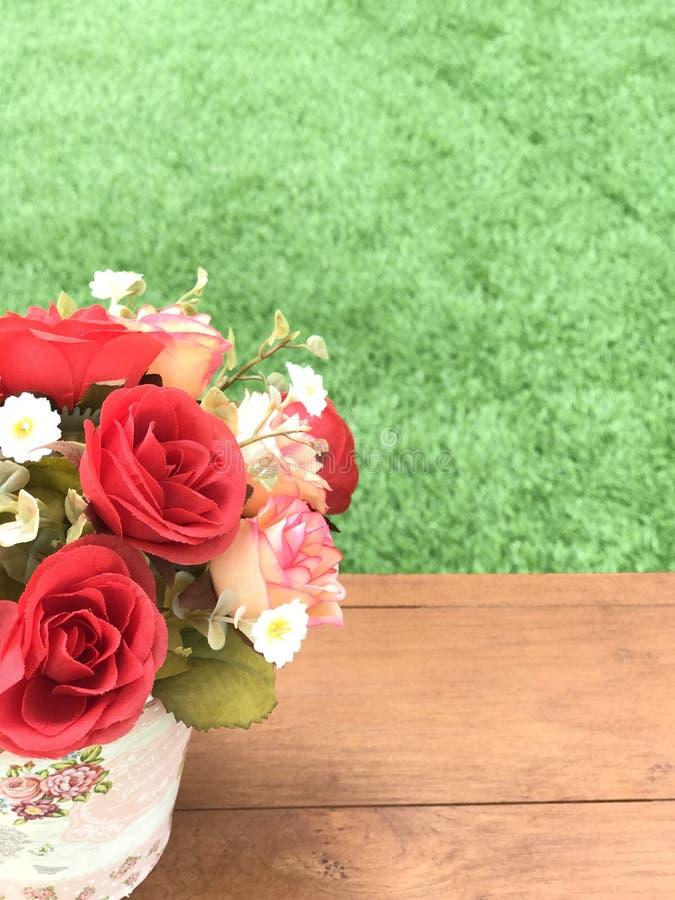 Flor plástica foto de stock