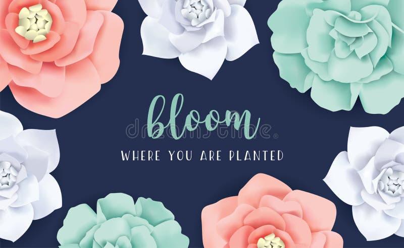 Flor quando você for plantado ilustração stock