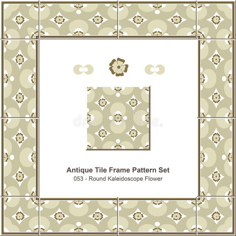 Download Flor Redonda Antiga Do Caleidoscópio Do Teste Padrão Set_053 Do Quadro Da Telha Ilustração do Vetor - Ilustração de projeto, kaleidoscope: 65579101