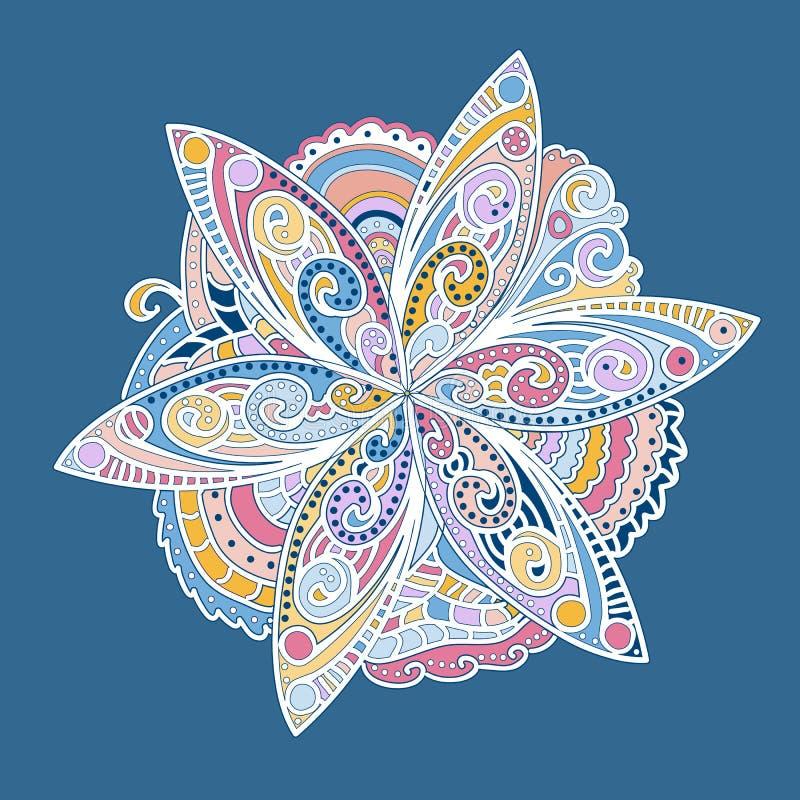 Flor redonda ornamental colorida libre illustration