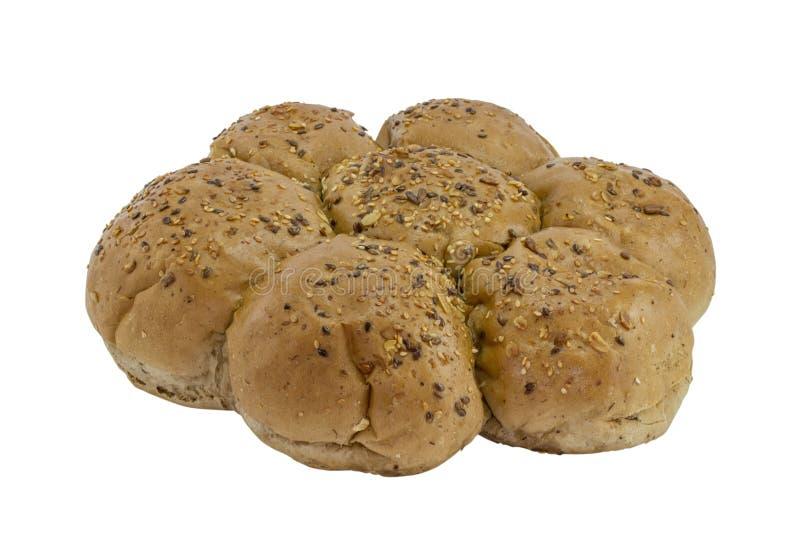 Flor redonda pão integral dado forma imagens de stock royalty free