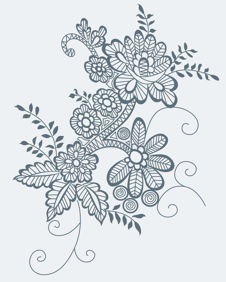 Flor retra ilustración del vector