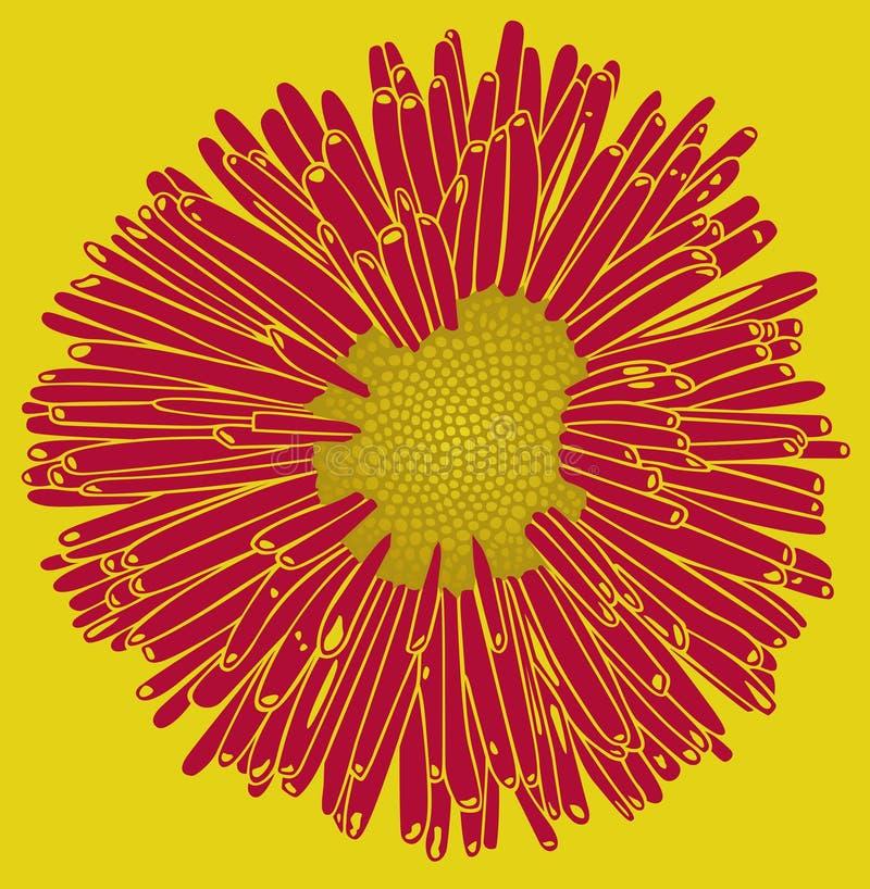 Flor retro ilustração stock