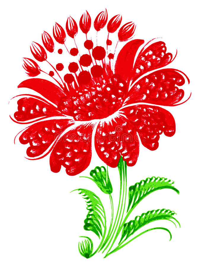 Flor roja libre illustration