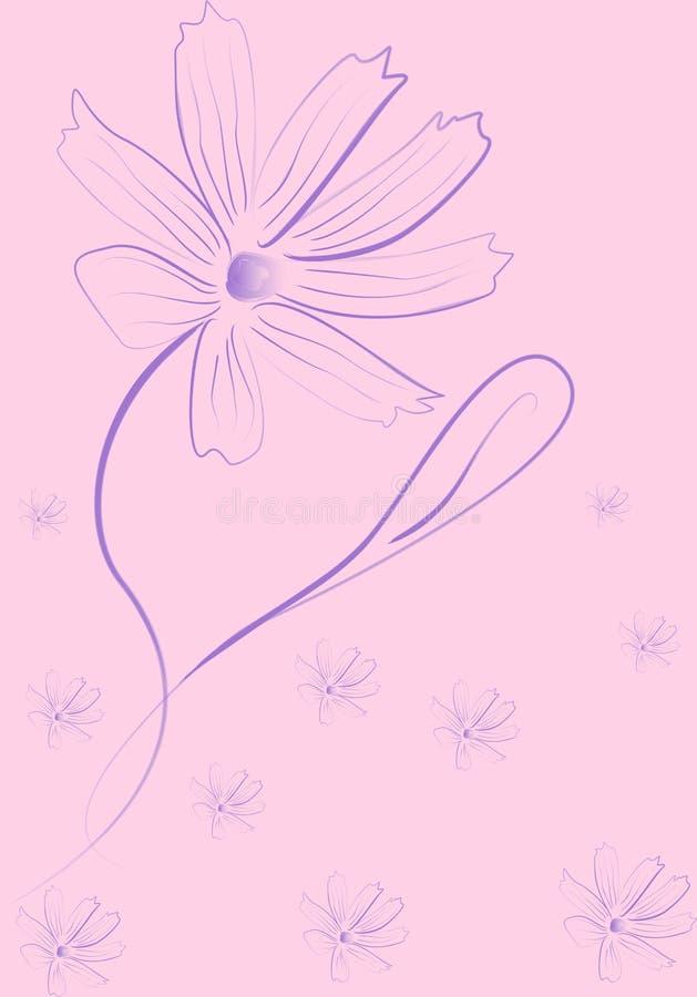 Flor romântica do lilac ilustração do vetor