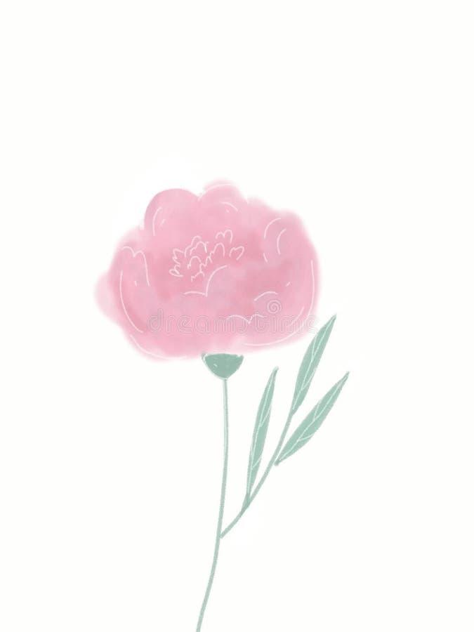 Flor rosada stock de ilustración