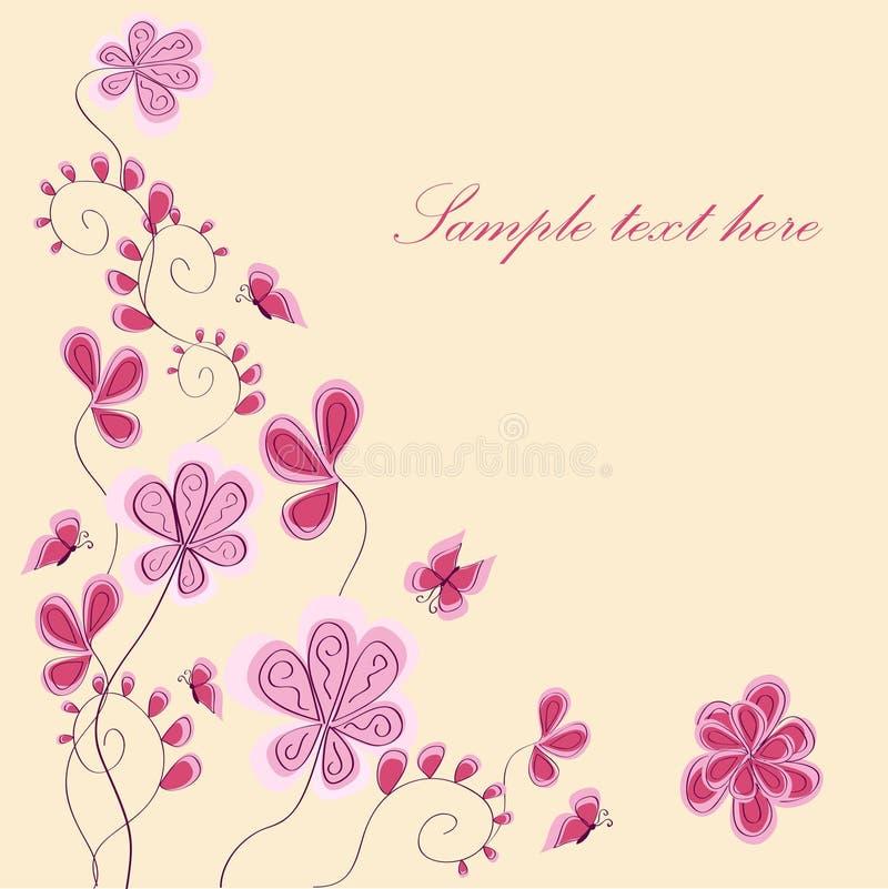 Flor rosada abstracta stock de ilustración
