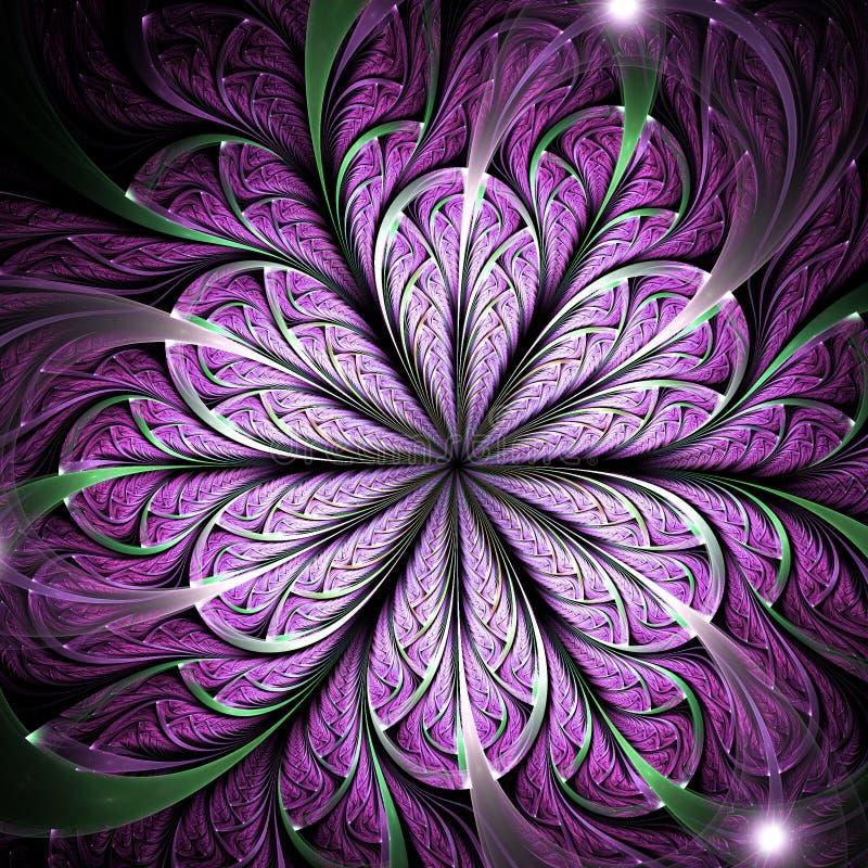 Flor roxa do fractal ilustração stock