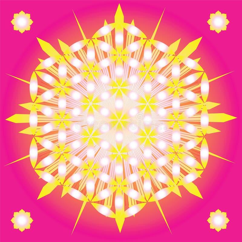 Flor sagrada de la geometría de la vida ilustración del vector