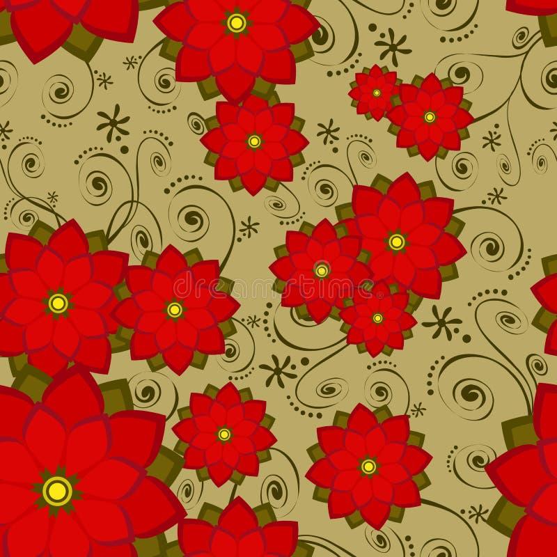Flor sem emenda da telha do papel de parede ilustração do vetor