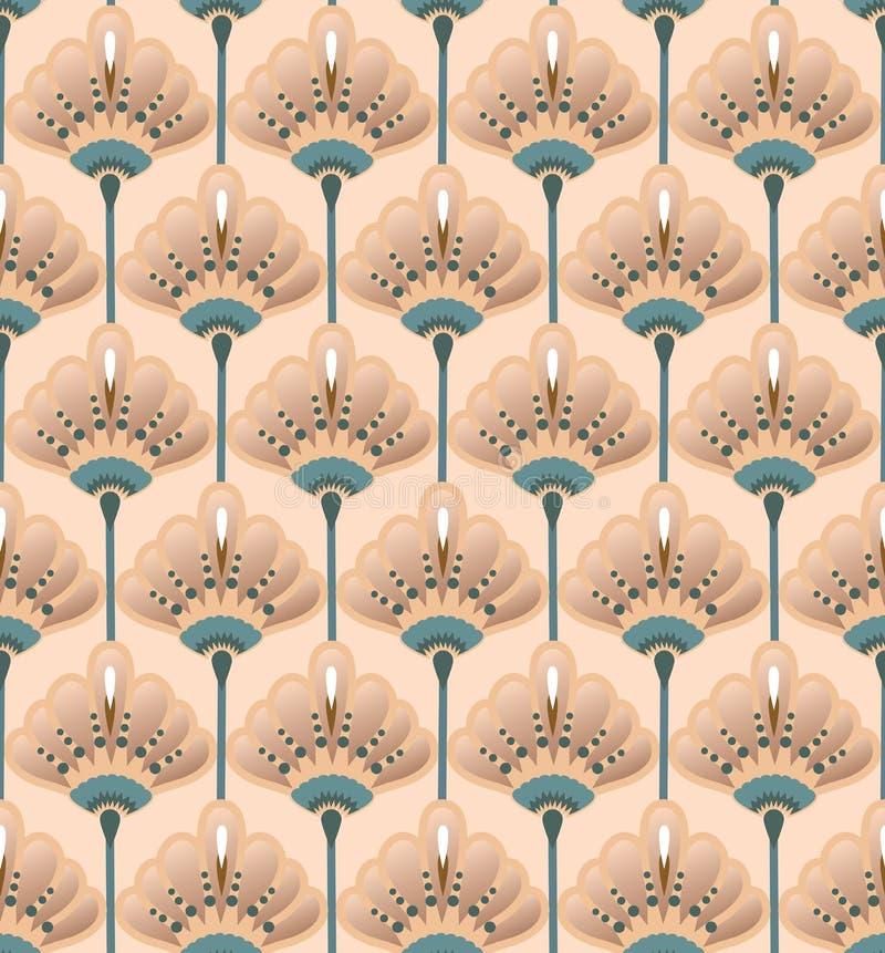 Flor sem emenda Lily Pattern ilustração do vetor