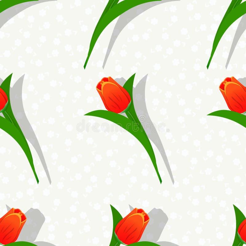Flor sem emenda pattern-01 ilustração do vetor
