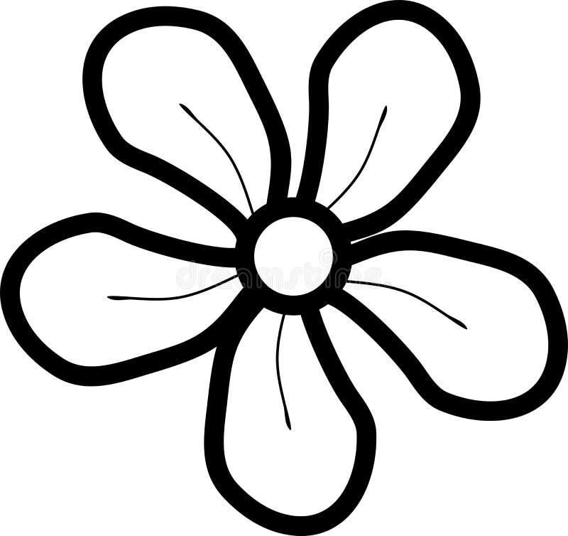 Flor simple abstracta con cinco pétalos libre illustration