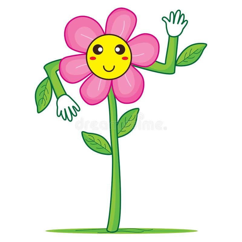Flor sonriente hola stock de ilustración