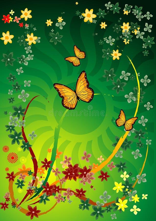 flor tła green ilustracja wektor