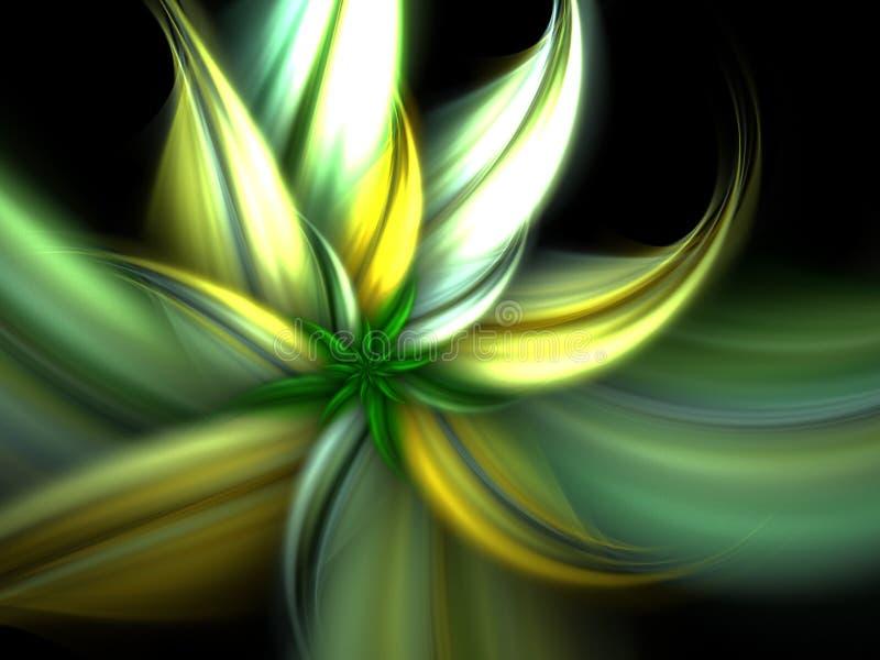 Flor verde da mola ilustração royalty free