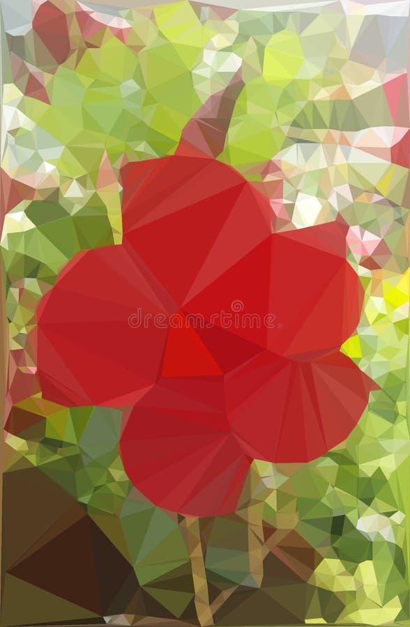 Flor vermelha com teme abstrato Twirl vermelho de Digitas art imagens de stock royalty free